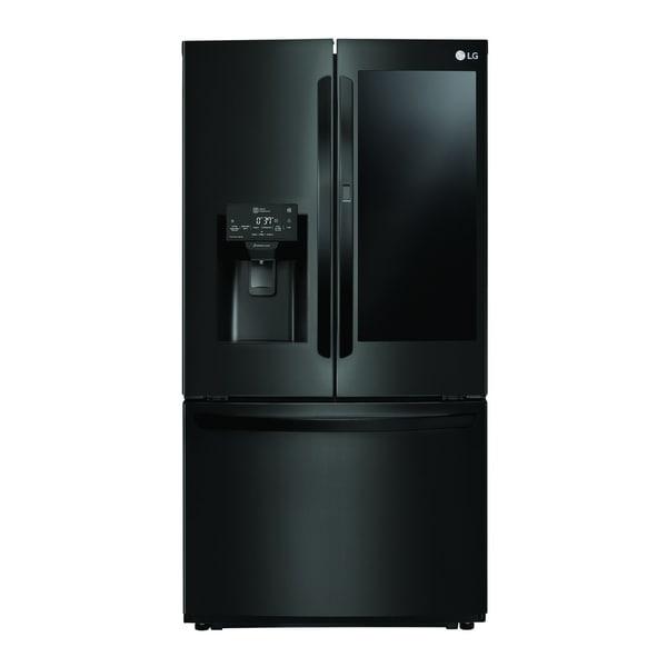 """LG LFXS26596M 26 cu. ft. Smart wi-fi Enabled InstaView™ Door-in-Door® Refrigerator Matte Black Stainless Steel - 7'10"""" x 10'6"""""""