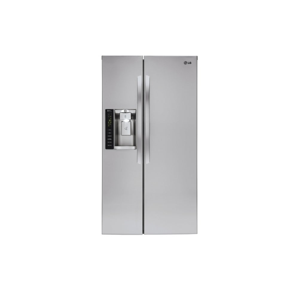 """LG  LSXC22426S 22 cu. ft. Smart wi-fi Enabled Side-by-Side Counter-Depth Refrigerator - 710"""" x 106"""""""