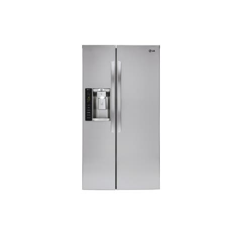 "LG LSXC22426S 22 cu. ft. Smart wi-fi Enabled Side-by-Side Counter-Depth Refrigerator - 7'10"" x 10'6"""