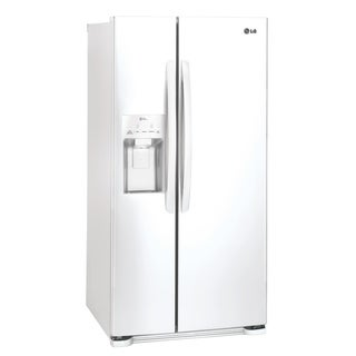 """LG LSXS22423W 22 cu. ft. Side-by-Side Refrigerator Smooth White - 7'10"""" x 10'6"""""""