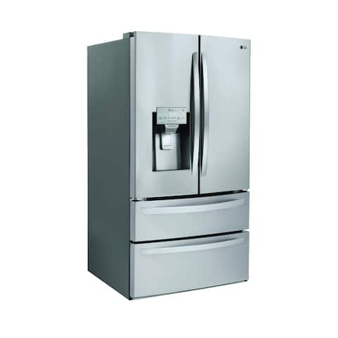 "LG LMXS28626S 28 cu.ft. Smart wi-fi Enabled French Door Refrigerator Stainless Steel - 7'10"" x 10'6"""
