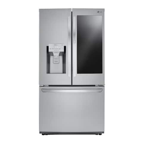 """LG LFXS26596S 26 cu. ft. Smart wi-fi Enabled InstaView Door-in-Door® Refrigerator Stainless Steel - 7'10"""" x 10'6"""""""