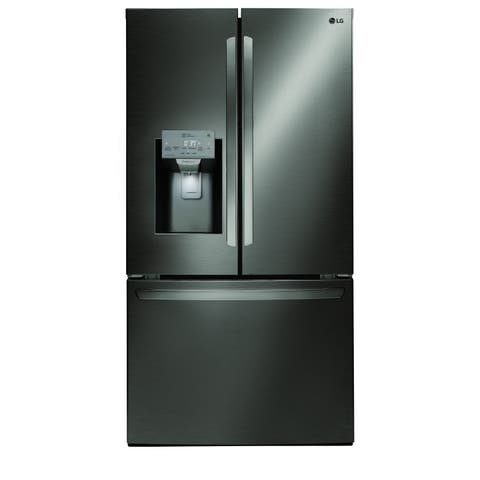 "LG LFXS26973D 26 cu. ft. Smart wi-fi Enabled French Door Refrigerator Black Stainless Steel - 7'10"" x 10'6"""
