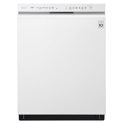 LG LDF5545WW Front Control Dishwasher with QuadWash and EasyRack Plus Smooth White