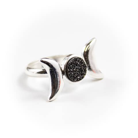 Moon Phase Plated Ring