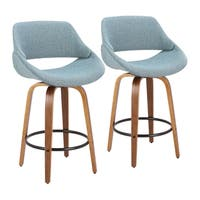 Carson Carrington Filipstad Counter Stool with Round Black Footrest (Set of 2)