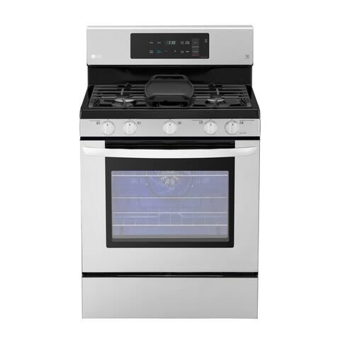 LG LRG3193ST 5.4 cu. ft. Gas Single Oven Range with EvenJet Fan Convection and EasyClean® Stainless Steel