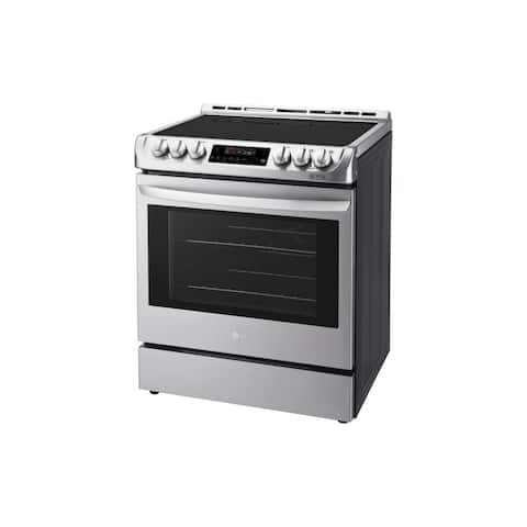 LG LSE4611ST 6.3 cu. ft. Electric Single Oven Slide-in Range with ProBake Convection® and EasyClean®Stainless Steel