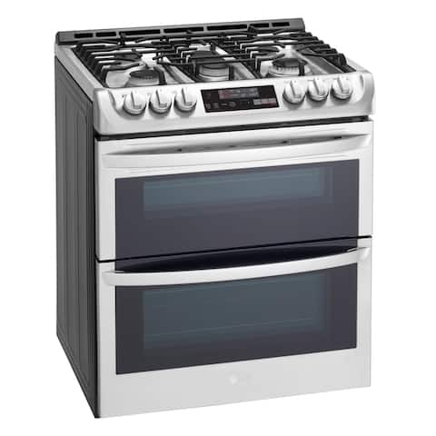 LG LTG4715ST 6.9 cu. ft. Smart wi-fi Enabled Gas Double Oven Stainless Steel