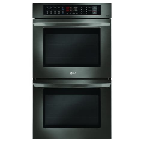 LG LWD3063BD 9.4 cu. ft. Double Wall Oven Black Stainless Steel