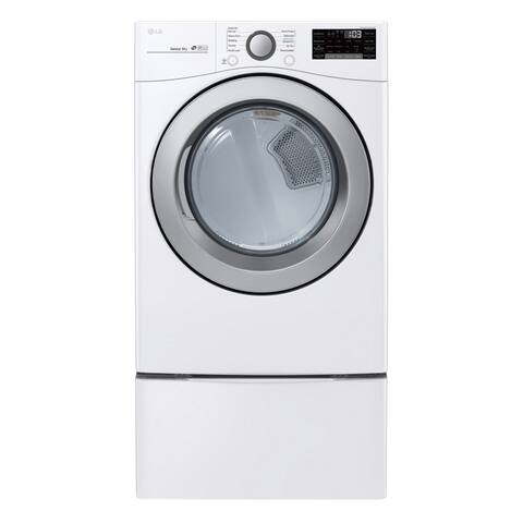 "LG DLG3501W 7.4 cu. ft. Ultra Large Capacity Smart wi-fi Enabled Gas Dryer White - 7'10"" x 10'10"""