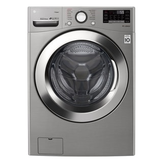 "LG WM3700HVA 4.5 cu. ft. Ultra Large Smart wi-fi Enabled Front Load Washer Graphite Steel - 7'10"" x 10'10"""