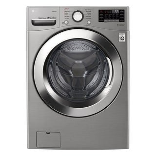 "LG WM3700HVA 4.5 cu. ft. Ultra Large Smart wi-fi Enabled Front Load Washer Graphite Steel - 7'10"" x 10'10"""