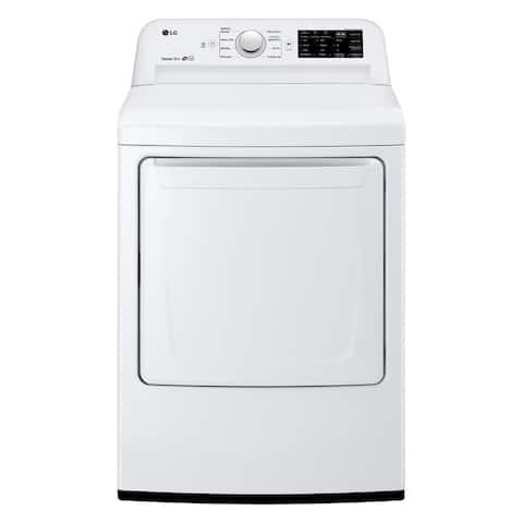"LG DLG7101W 7.3 cu. ft. Gas Dryer with Sensor Dry Technology White - 7'10"" x 10'10"""