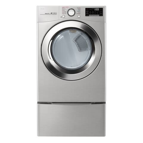 "LG DLGX3701V 7.4 cu. ft. Ultra Large Capacity Smart wi-fi Enabled SteamDryer Graphite Steel - 7'10"" x 10'10"""