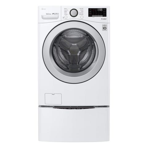 "LG WM3500CW 4.5 cu. ft. Ultra Large Smart wi-fi Enabled Front Load Washer White - 7'10"" x 10'10"""