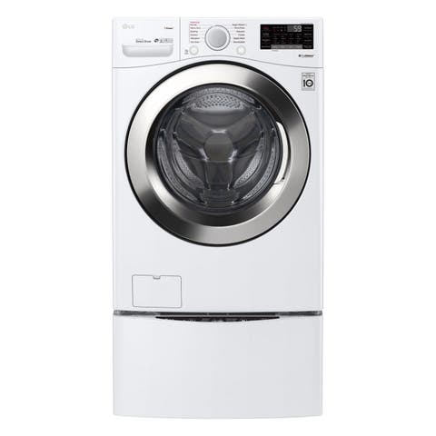 "LG WM3700HWA 4.5 cu. ft. Ultra Large Smart wi-fi Enabled Front Load Washer Smooth White - 7'10"" x 10'10"""