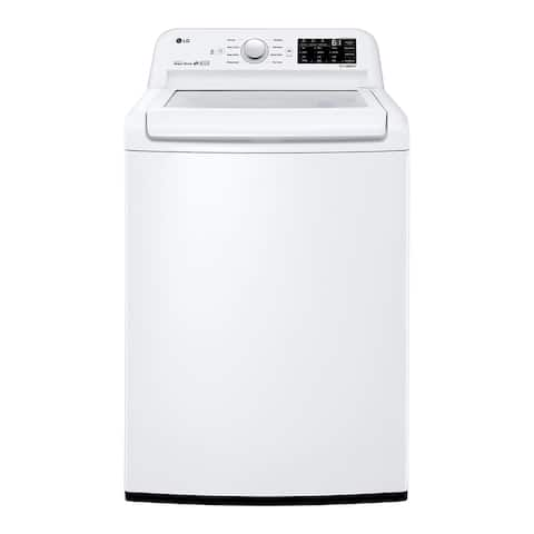 "LG WT7100CW 4.5 cu. ft. Top Load Washer White - 7'10"" x 10'10"""