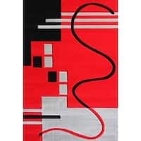 """8x11 Modern Area Rug Red - 7'6"""" x 10'3"""""""