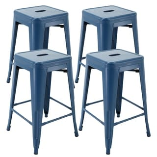 """Link to Brage Living Barstool 24"""" backless metal Stools (Set of 4) Similar Items in Dining Room & Bar Furniture"""