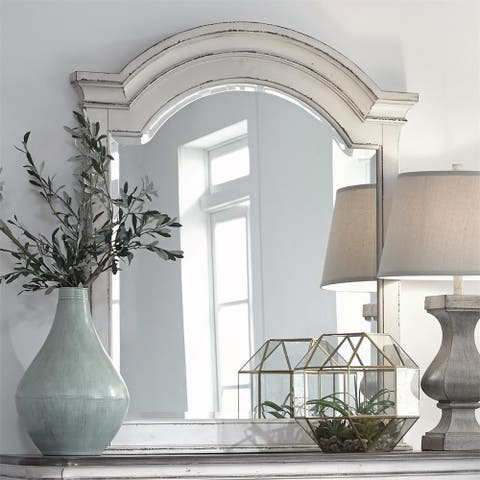 Magnolia Manor Antique White Mirror