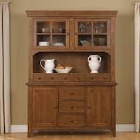 Hearthstone Rustic Oak Hutch and Buffet