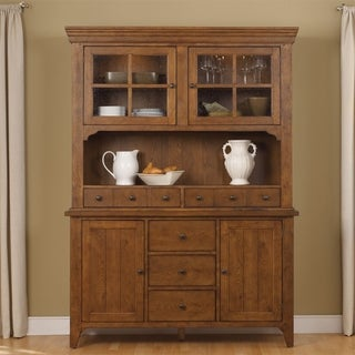 Hearthstone Rustic Oak Hutch and Buffet