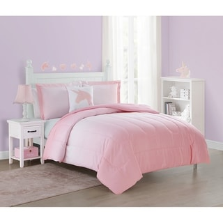Link to Jada Unicorn Pink 4-Piece Comforter Set Featuring Wall Decals Similar Items in Comforter Sets