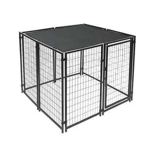 Shop 7 5 X 7 5 Large Pet Dog Run House Kennel Shade Cage