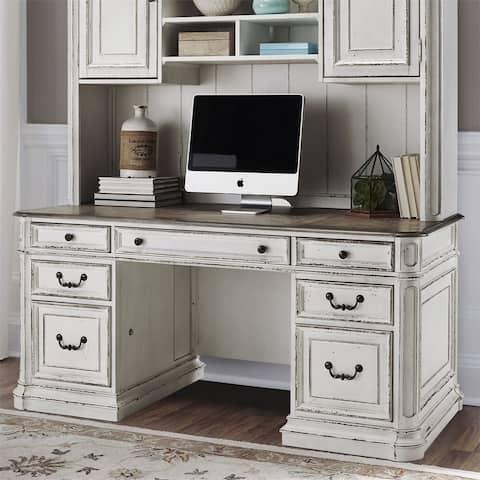 Magnolia Manor Antique White Jr Executive Credenza