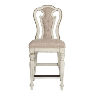 Magnolia Manor Antique White Counter Height Chair (Set of 2)