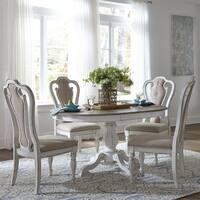 Liberty Magnolia Manor White Wood 5-piece Pedestal Table Set