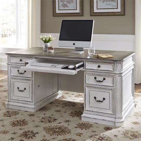 Magnolia Manor Antique White Desk