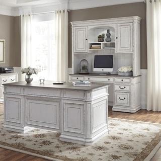 Magnolia Manor Antique White Complete 5-piece Desk