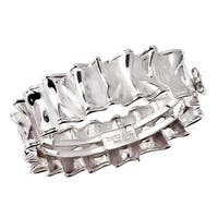 Thistle & Bee Sterling Silver Ruffle Hinged Bangle Bracelet