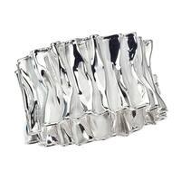 Thistle & Bee Sterling Silver Ruffle Bangle Bracelet