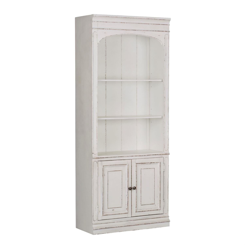 Magnolia Manor Antique White Bunching Bookcase