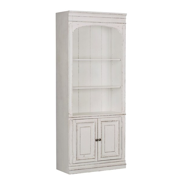 Shop Magnolia Manor Antique White Bunching Bookcase On
