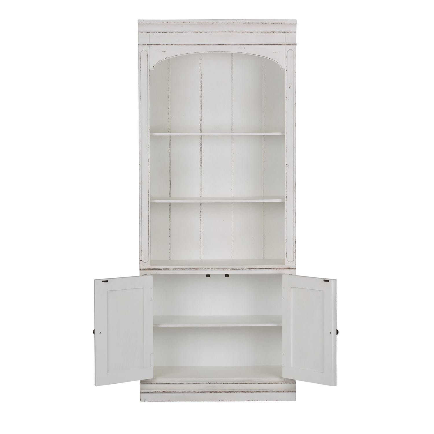 Magnolia Manor Antique White Bunching Bookcase
