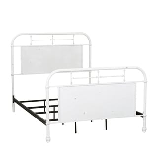 Link to Carbon Loft Cauthen Antique White Full Metal Bed Similar Items in Kids' & Toddler Furniture