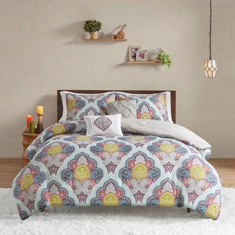 Intelligent Design Jayla Multi Paisley Medallion Print Comforter Set