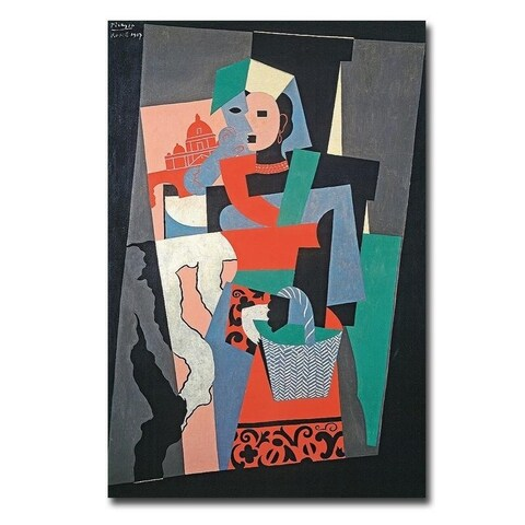 L'Italienne (The Italian) by Pablo Picasso Gallery Wrapped Canvas Giclee Art (18 in x 12 in, Ready to Hang)