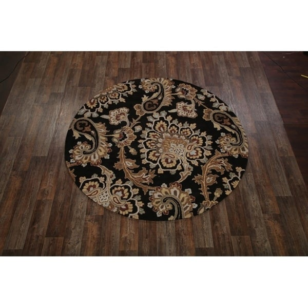 Shop Oushak Floral Tufted Wool Persian Oriental Area Rug: Shop Hand Tufted Wool Oushak Agra Oriental Floral Area Rug