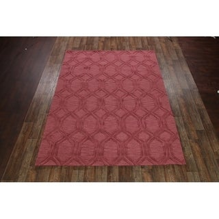 """Traditional Hand Made Oushak Trellis Indian Oriental Floral Area Rug - 8'11"""" x 11'10"""""""