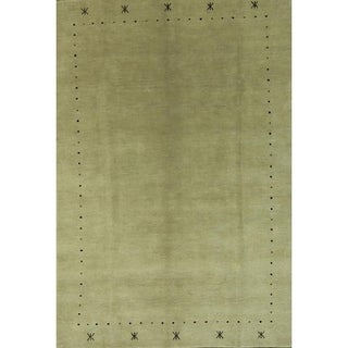 "Tribal Handmade Woolen Gabbeh Indian Oriental Solid Area Rug - 9'3"" x 6'3"""