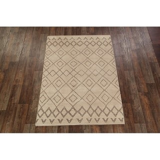 "Moroccan Oushak Traditional Hand Made Oriental Area Rug - 5'4"" x 7'8"""