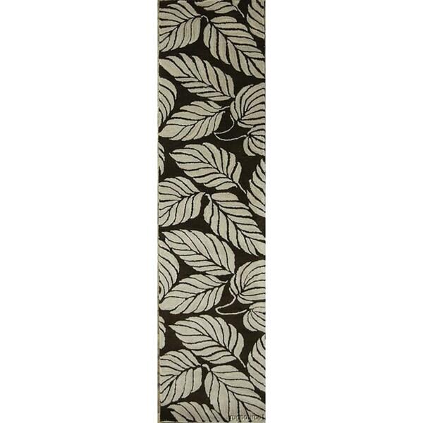 "Oushak Oriental Hand Tufted Woolen Floral Area Rug Wool - 9'10"" x 2'6"" runner"