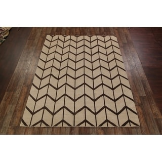 """Moroccan Oushak Oriental Hand Knotted Wool Area Rug - 9'1"""" x 12'4"""""""