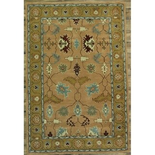 """Oushak Floral Hand Tufted Ziegler Indian Oriental Area Rug - 12'0"""" x 9'0"""""""