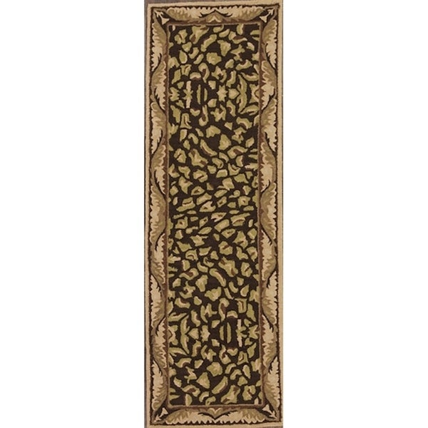 Shop Oushak Floral Tufted Wool Persian Oriental Area Rug: Shop Oushak Traditional Floral Hand Tufted Agra Oriental